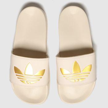 adidas Natural Adilette Lite Womens Sandals