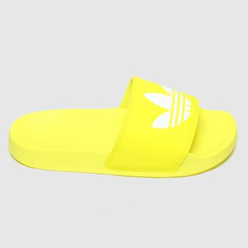 Adidas Yellow Adilette Lite Womens Sandals#