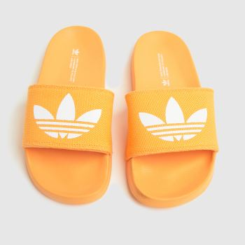 adidas Orange Adilette Lite Womens Sandals