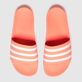adidas Orange Adilette Womens Sandals