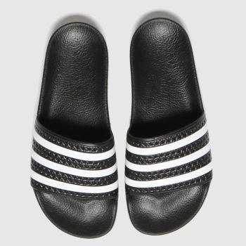 adidas Black Adilette Womens Sandals