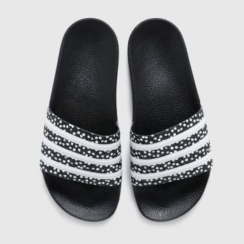 adidas Black & White Adilette Womens Sandals