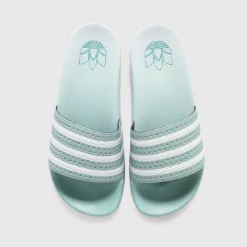 adidas Light Green Adilette Womens Sandals