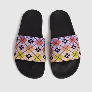 adidas Black & pink Adilette Womens Sandals