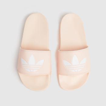 adidas Pale Pink Adilette Lite Womens Sandals
