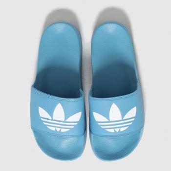 adidas Blue Adilette Lite Womens Sandals