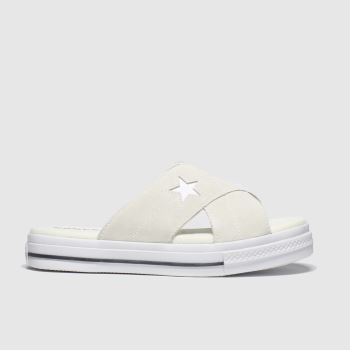 Converse White One Star Womens Sandals