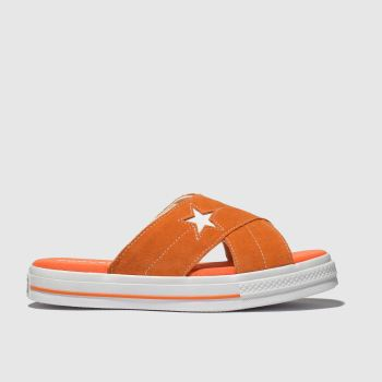 Converse Orange One Star Sandal Damen Sandalen