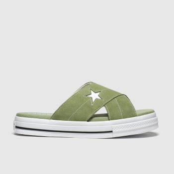 Converse Khaki One Star c2namevalue::Damen Sandalen