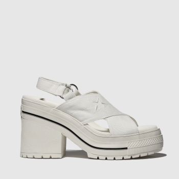 converse white one star heel sandals