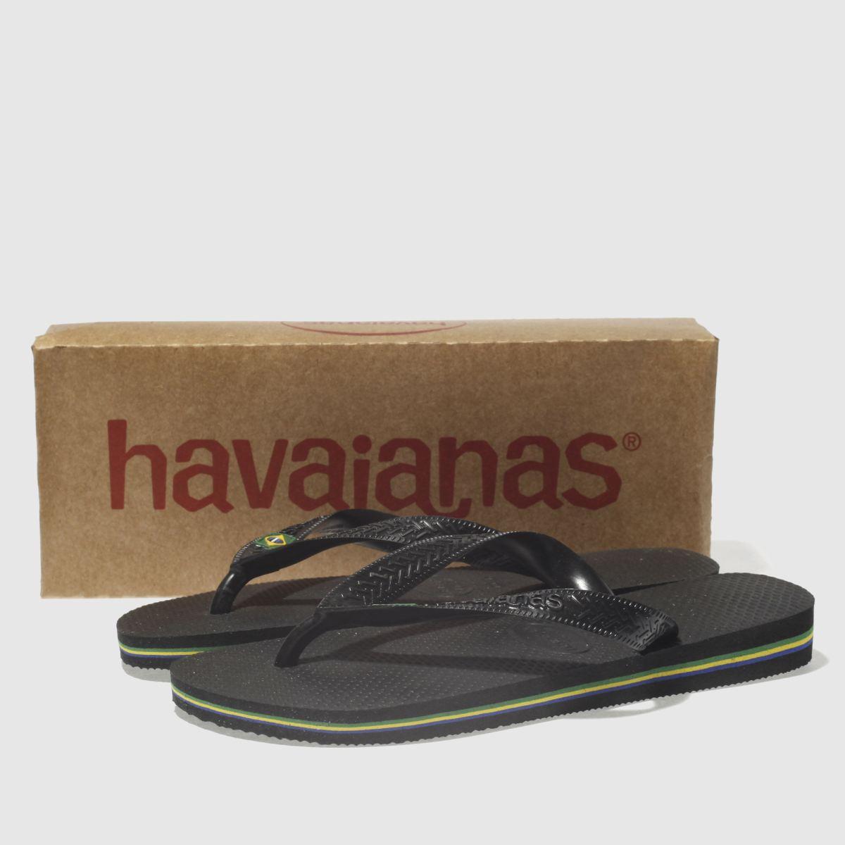 Damen Schwarz havaianas Brasil beliebte Sandalen   schuh Gute Qualität beliebte Brasil Schuhe bea96f