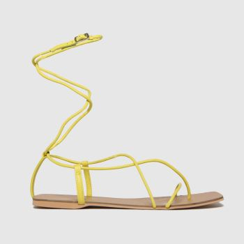 schuh Lime Tandy Leather Square Toe Womens Sandals