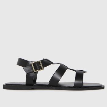schuh Black Tyrion Leather Gladiator Womens Sandals