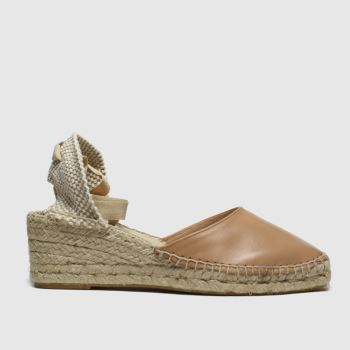 schuh Natural Ceremony Leather Espadrille Womens Sandals