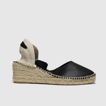 Schuh Black Ceremony Leather Espadrille Womens Sandals