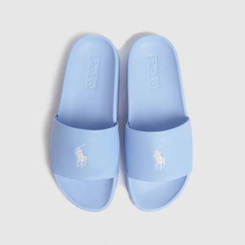 LAUREN RALPH LAUREN Pale Blue Cayson Slide Womens Sandals