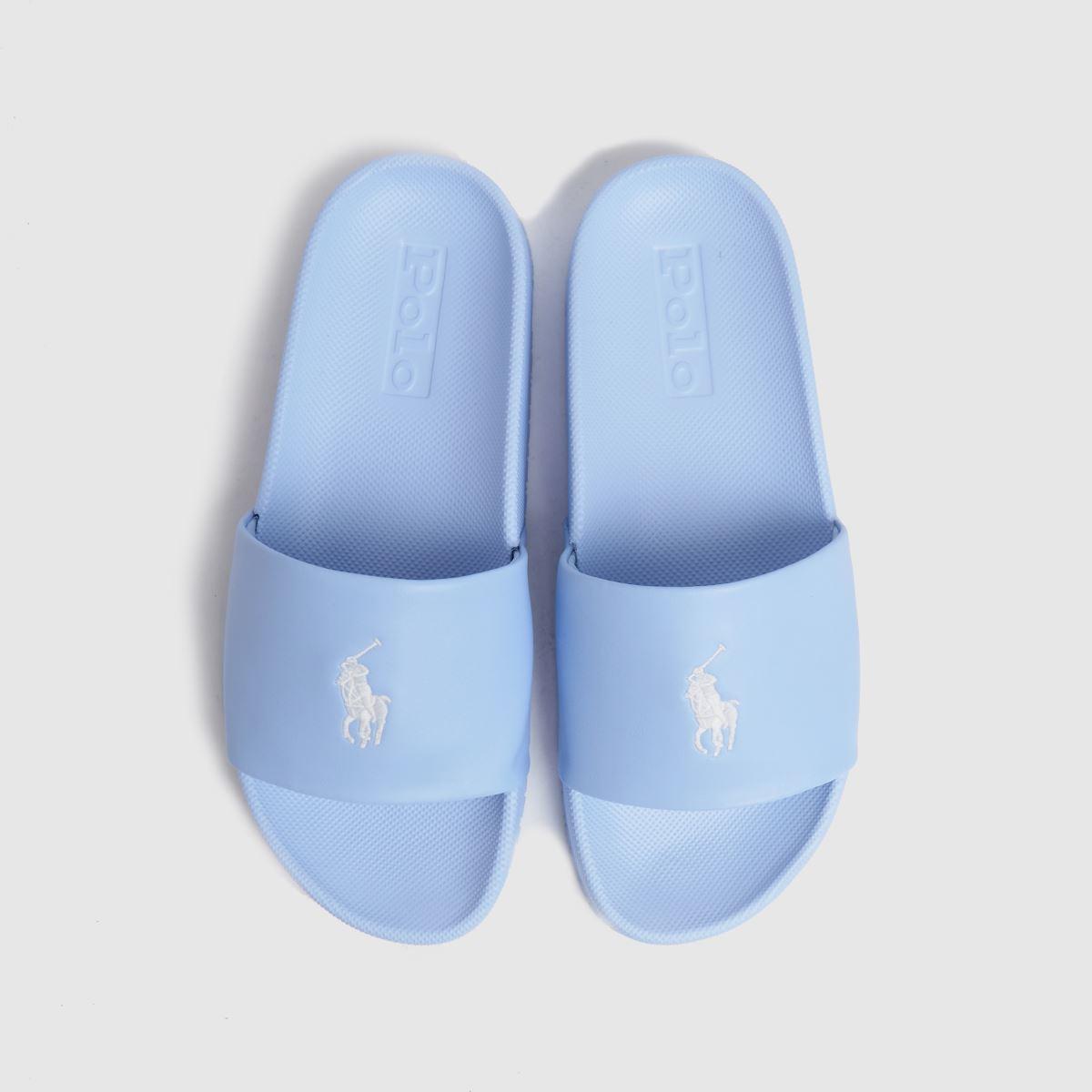 LAUREN RALPH LAUREN Pale Blue Cayson Slide Sandals