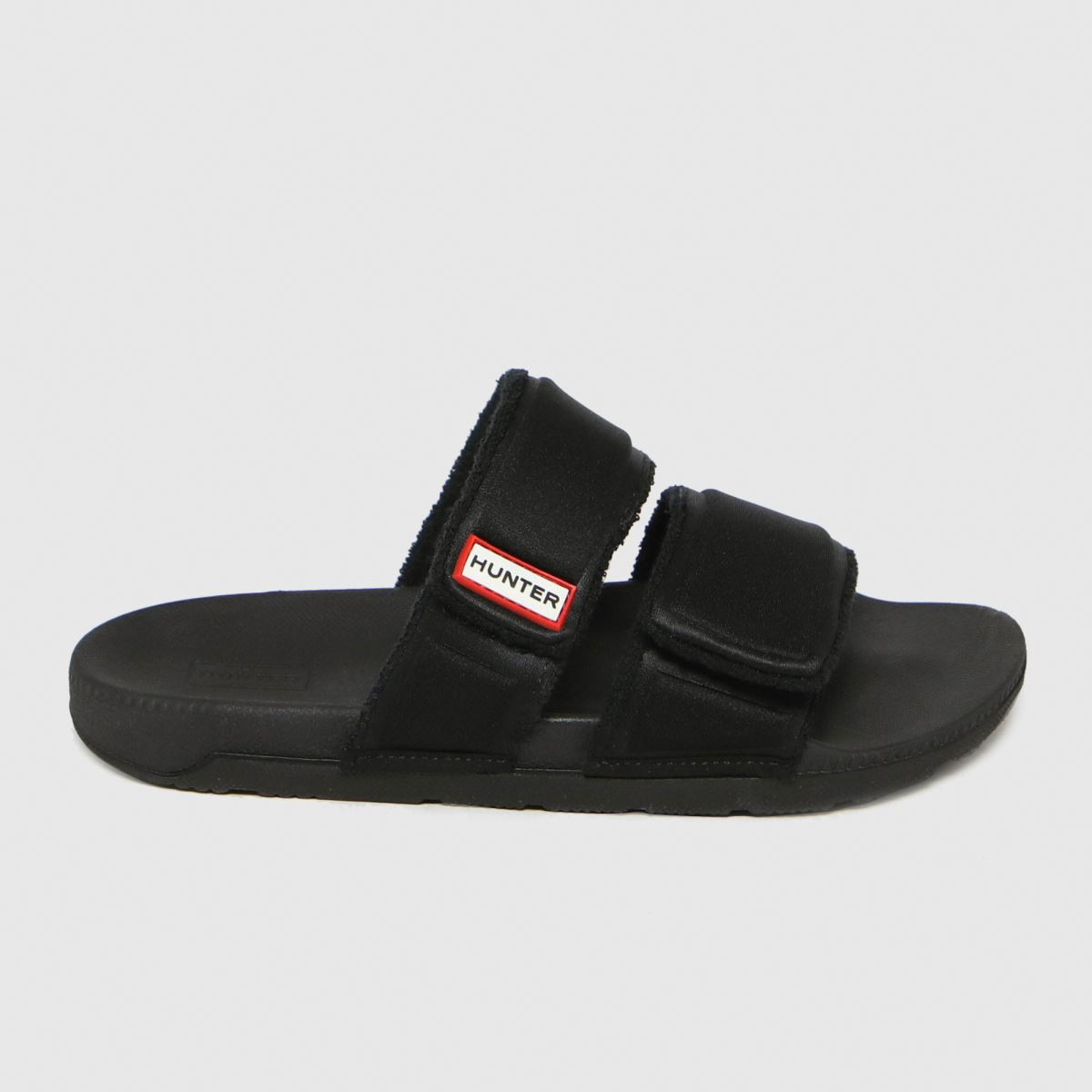 Hunter Black Original Two Strap Slide Sandals