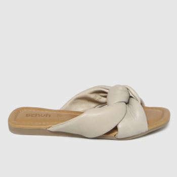 schuh Natural Tiara Leather Knot Womens Sandals