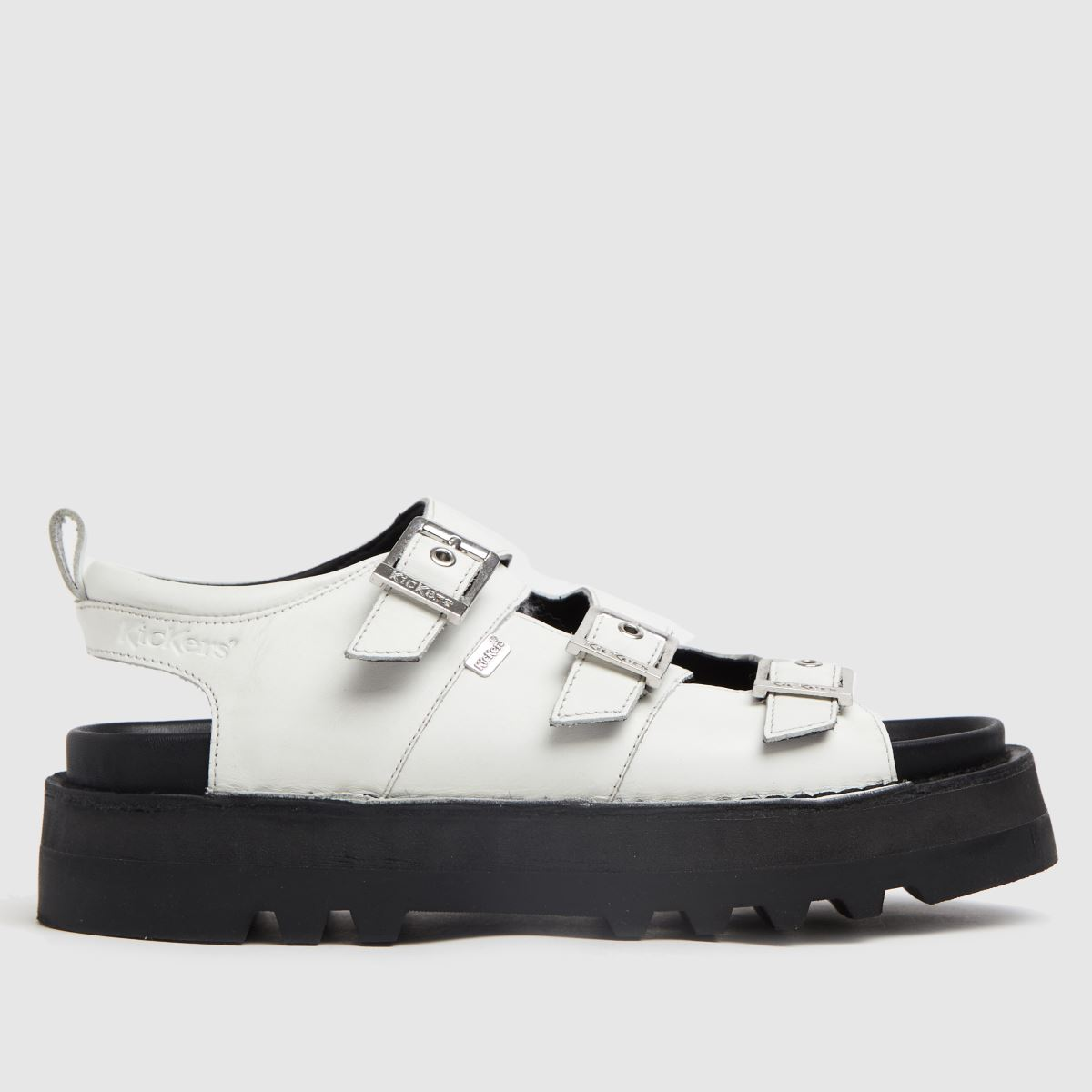Kickers White Knox Lo Buckle Sandals
