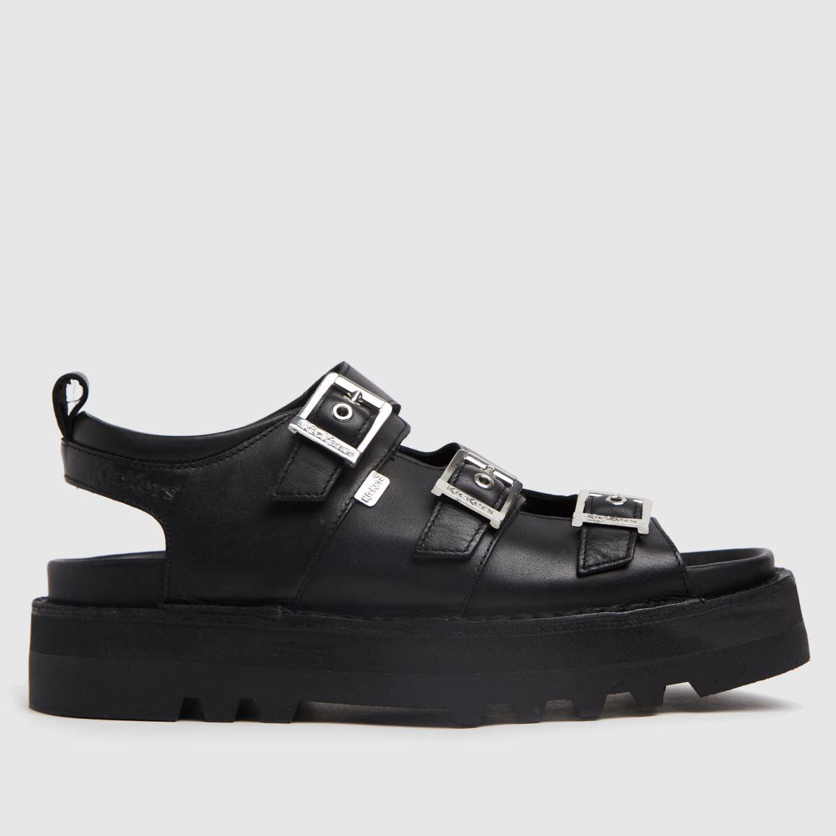 Kickers Black Knox Lo Buckle Sandals
