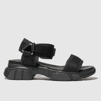 Schuh Black Energise Womens Sandals