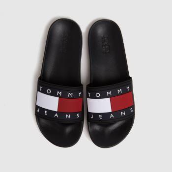 Tommy Hilfiger Black Flag Pool Slide Womens Sandals