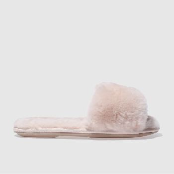 SCHUH PALE PINK SOFTY SLIPPERS