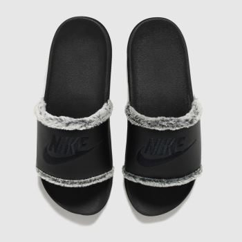 Nike Black Off Court Leather Womens Sandals