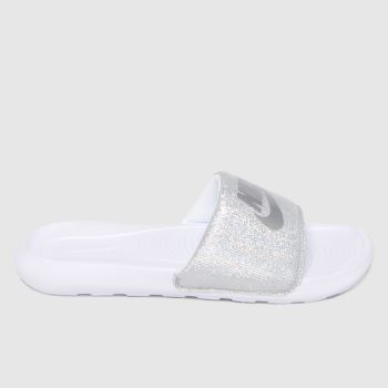 Nike White Victori One Womens Sandals