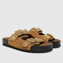 schuh Tatyana Suede Studded Footbed,2 of 4