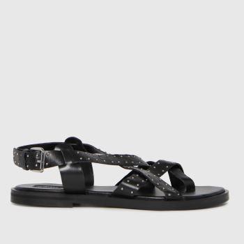 schuh Black Taylor Cross Strap Womens Sandals