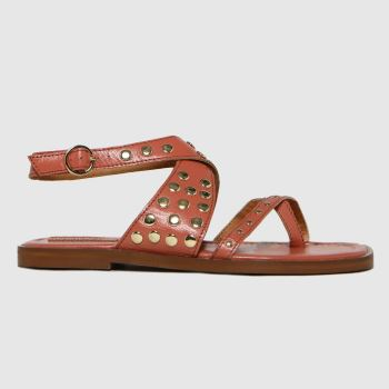 schuh Pale Pink Tierny Stud Womens Sandals