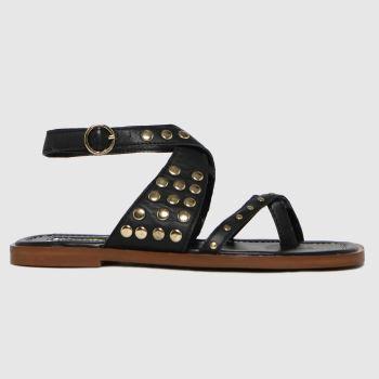 schuh Black Tierny Stud Sandals