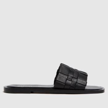 schuh Black Tease Woven Detail Mule Womens Sandals