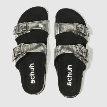 Schuh Black & Silver Sunny Day Womens Sandals
