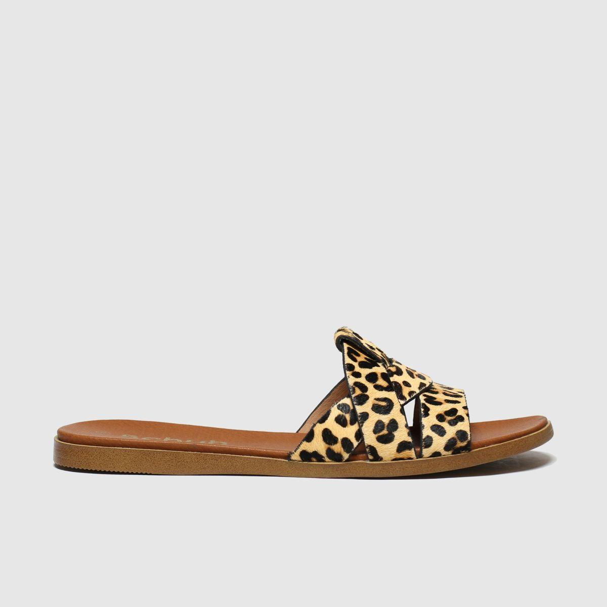schuh Schuh Beige & Brown Geneva Sandals