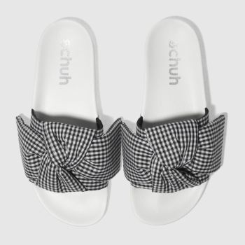 Schuh Black & White Bestie Slider Womens Sandals