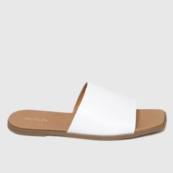 schuh White Tabby Mule Womens Sandals