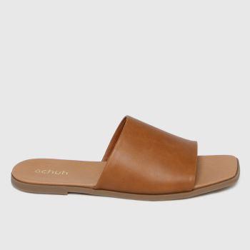 schuh Tan Tabby Mule Womens Sandals