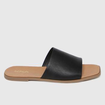schuh Black Tabby Mule Womens Sandals
