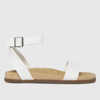 schuh White Talika Two Part Footbed Womens Sandals
