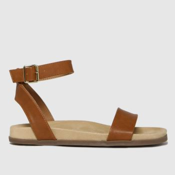schuh Tan Talika Two Part Footbed Womens Sandals