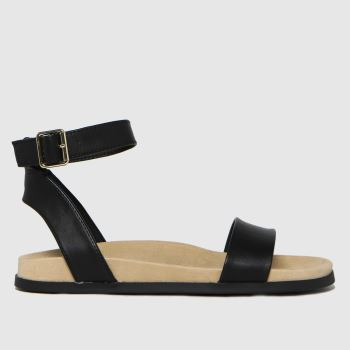schuh Black Talika Two Part Footbed Womens Sandals