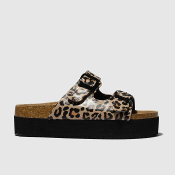 schuh Brown Dominican Flatform Womens Sandals