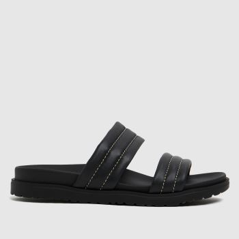 The Edit by schuh Black Phoebe Leather Womens Sandals