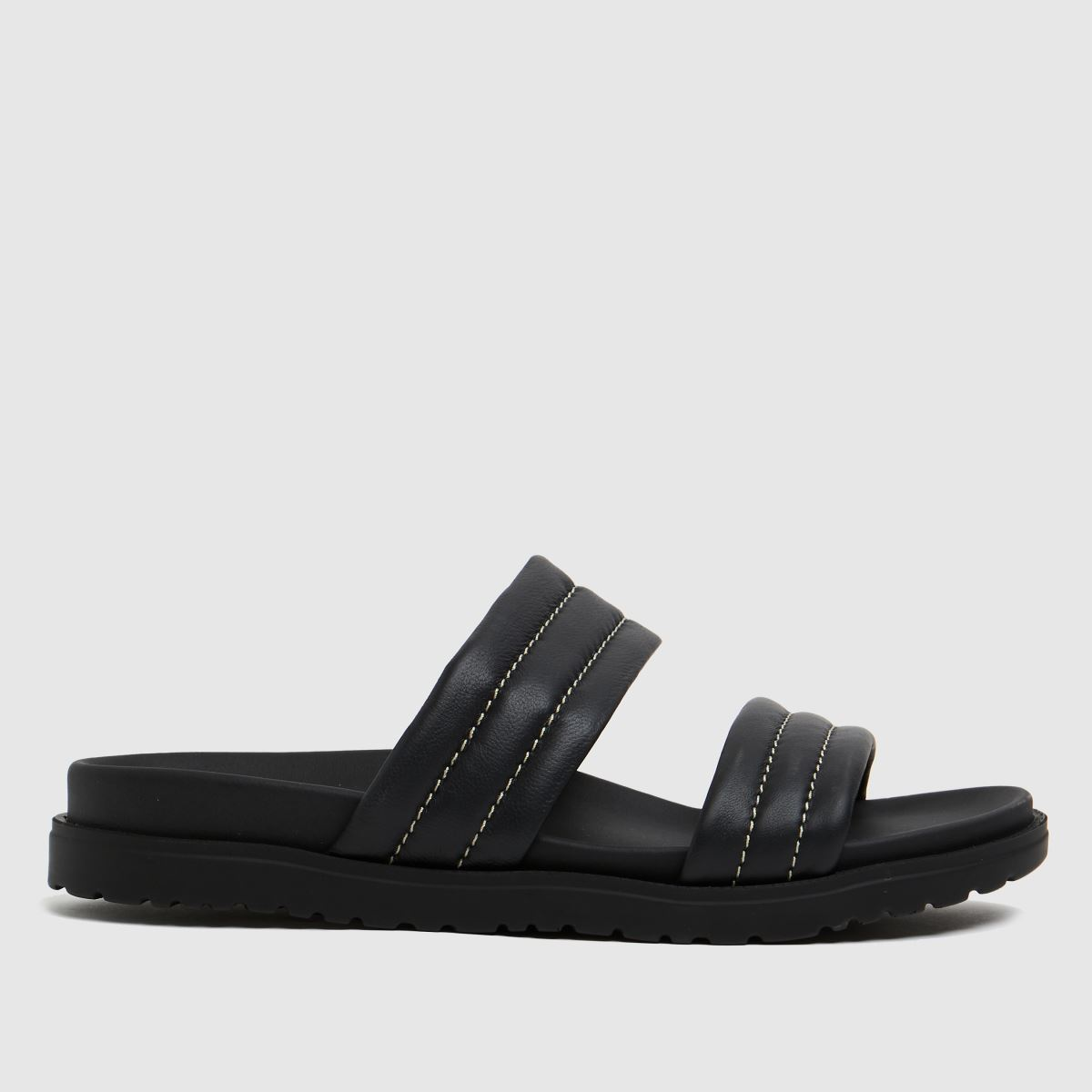 The Edit By Schuh Black Phoebe Leather Sandals