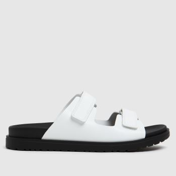 The Edit by schuh White Pearl Leather Womens Sandals