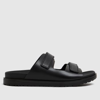 The Edit by schuh Black Pearl Leather Band Womens Sandals