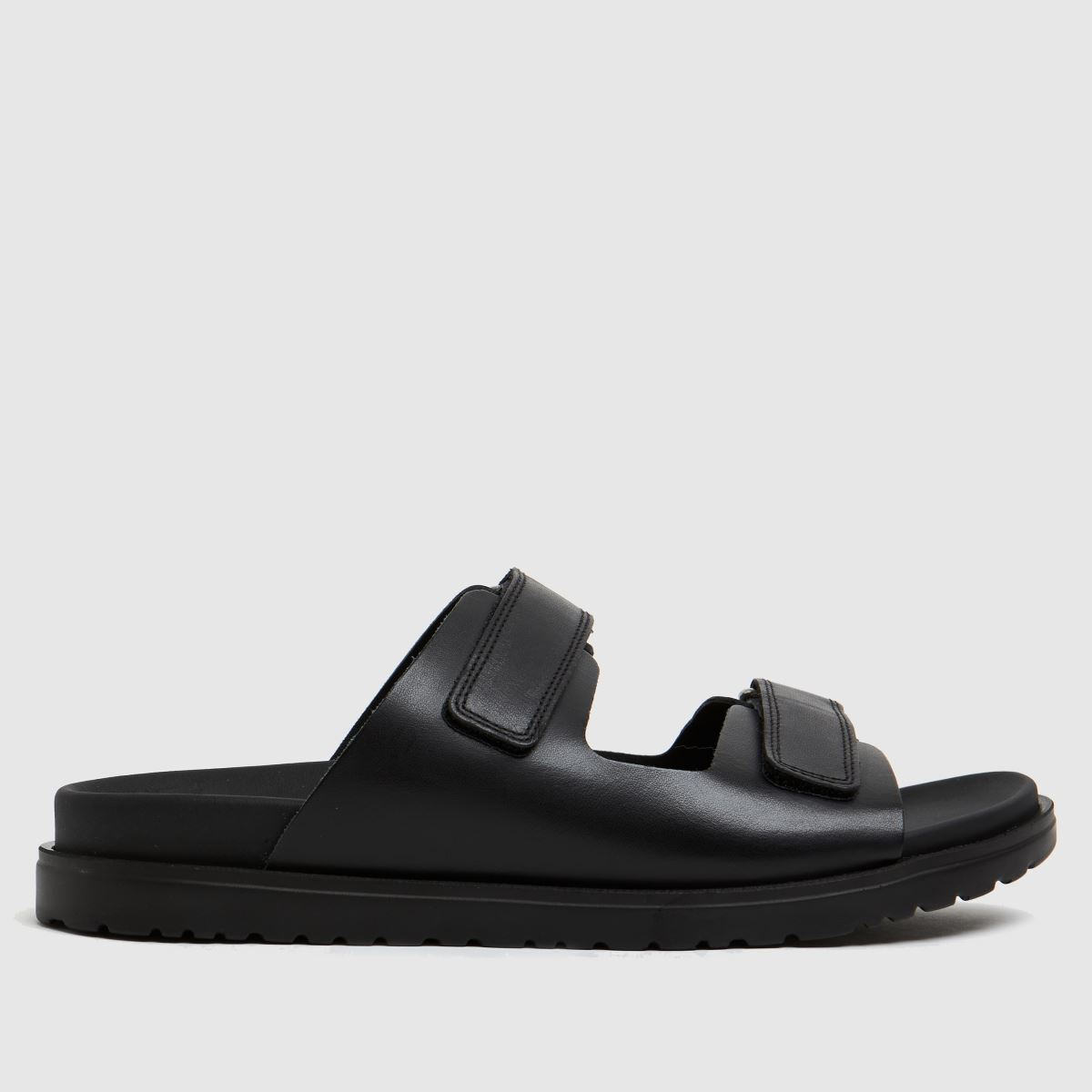 The Edit By Schuh Black Pearl Leather Band Sandals